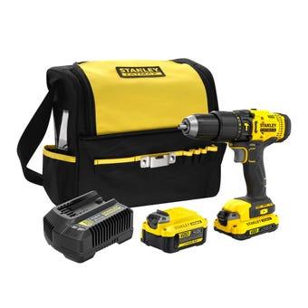 Stanley FatMax V20 18V Hammer Drill Kit 2.0Ah/4.0Ah SFMCD711DM2-XE