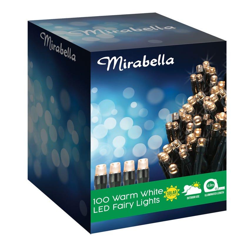 Mirabella 100 LED Solar Fairy Lights Warm White