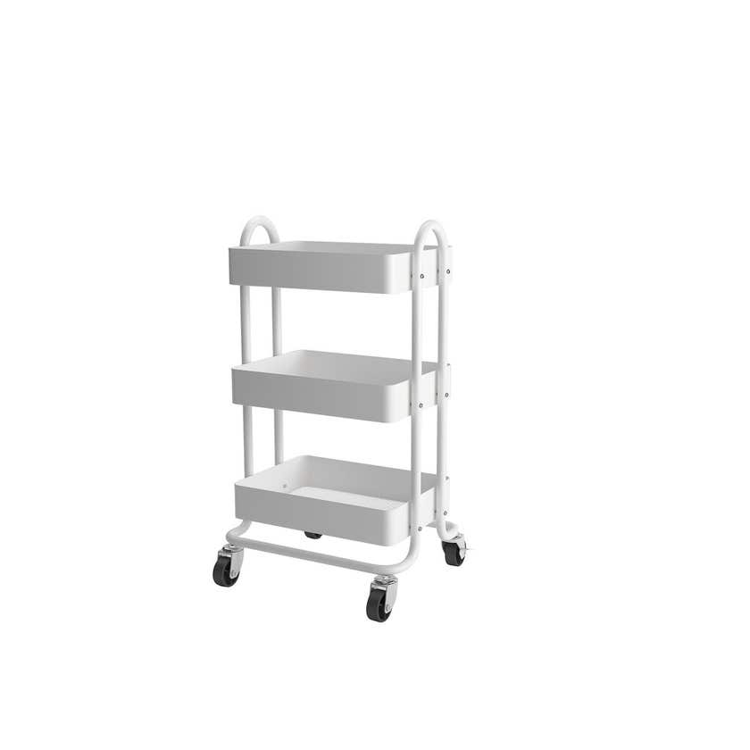 Trolley Utility With Handles 3 Tier White