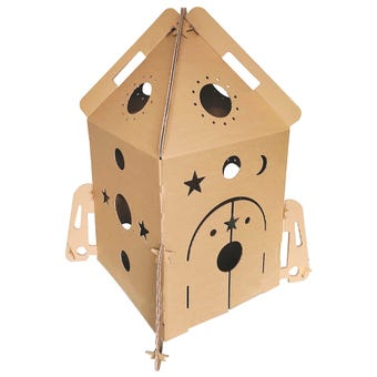 Rocket Ship Cardboard Cubby House