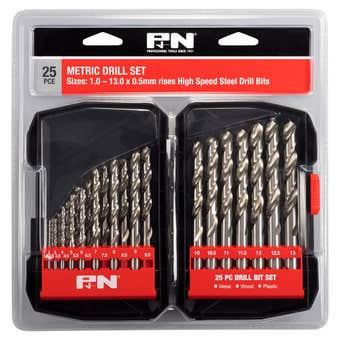 P&N HSS Jobber Drill Set Metric - 25 Piece