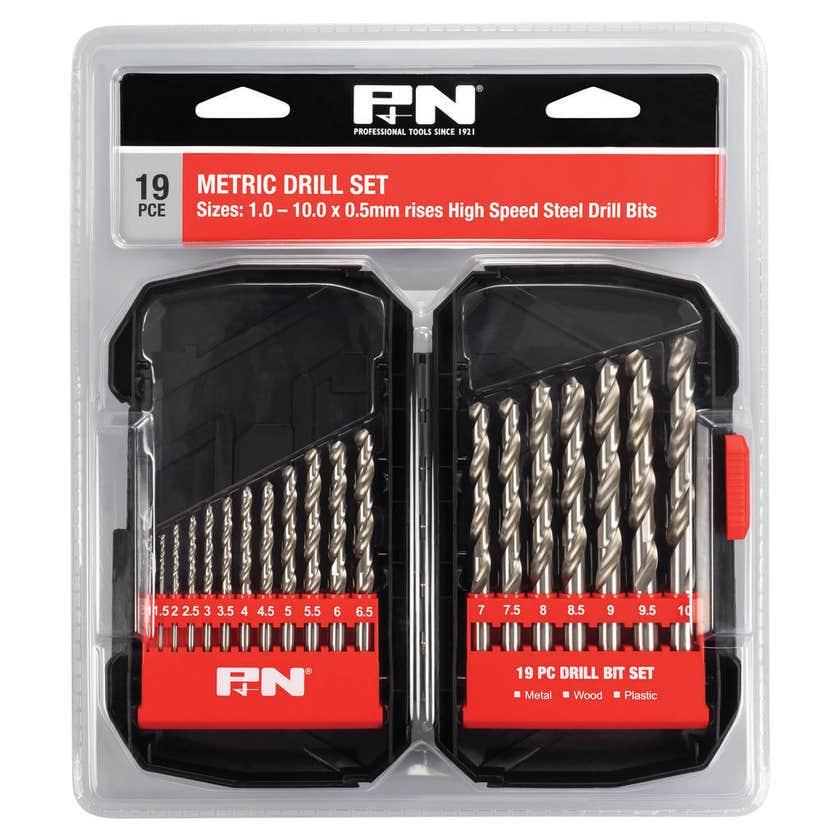 P&N HSS Jobber Drill Set Metric - 19 Piece