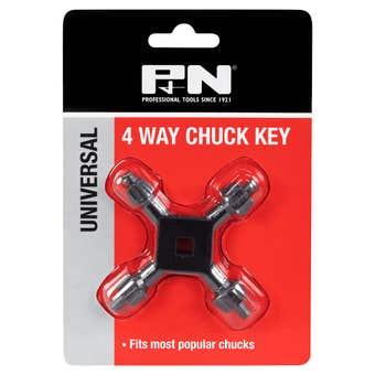 P&N 4 Way Chuck Key
