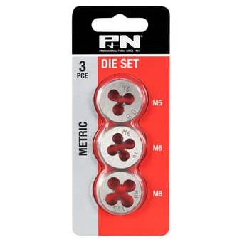 P&N Metric Button Die Set - 3 Piece