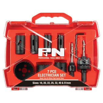 P&N Bi-Metal Electrician Holesaw Set - 7 Piece