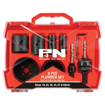 P&N Bi-Metal Plumber Holesaw Set - 6 Piece