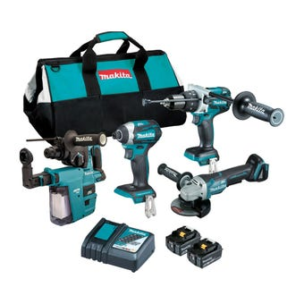 Makita 18V 5.0Ah Brushless Combo Kit - 4 Piece DLX4136TX1
