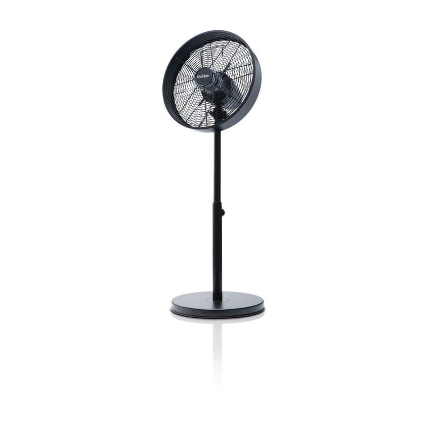 Goldair Drum Pedestal Fan Black 40cm