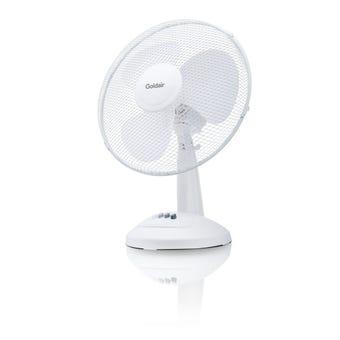 Goldair Desk Fan White 30cm