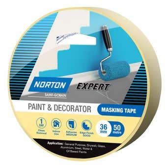 Norton Masking Tape Paint & Decorator 36mm X 50M