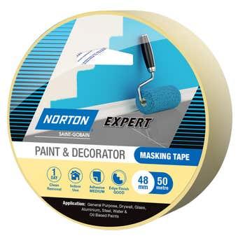Norton Masking Tape Paint & Decorator 48mm X 50M
