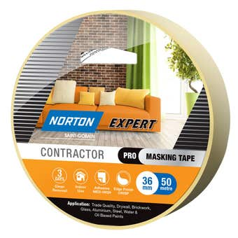 Norton Masking Tape Contractor 3 Day 36mm X 50M