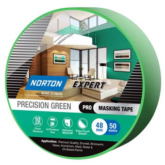 Norton Masking Tape Precision Green 10 Day 48mm X 50M