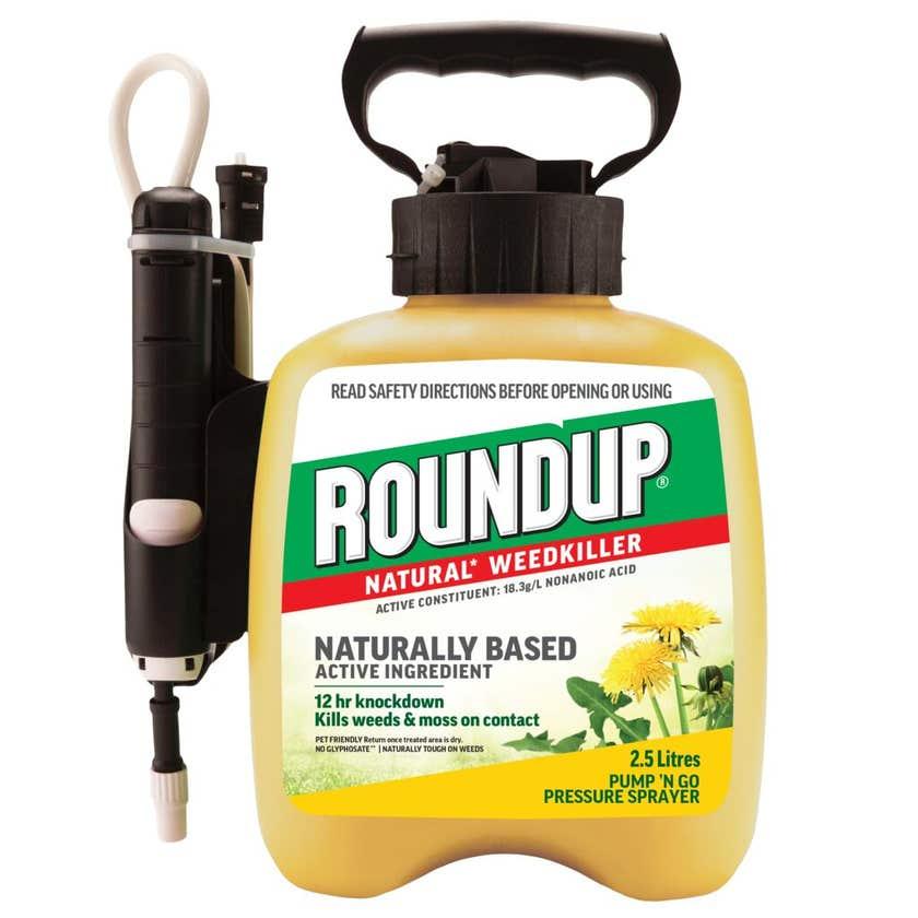 Roundup Natural Pump n Go Weedkiller 2.5L