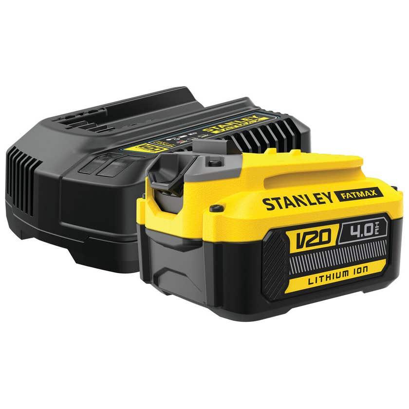 Stanley FatMax V20 18V 4.0Ah Battery & Charger Kit SFMCB14M1-XE