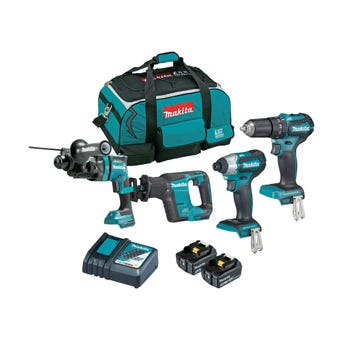 Makita 18V 5.0Ah Brushless Combo Kit - 4 Piece DLX4125TX1