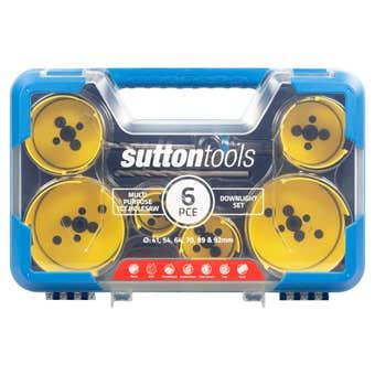 Sutton Tools Multi-Purpose TCT Hole Saw Downlight Set - 6 Piece