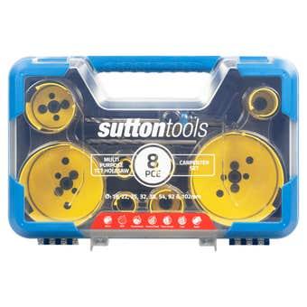 Sutton Tools Multi-Purpose TCT Hole Saw Carpenter Set - 8 Piece