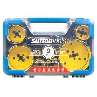 Sutton Tools Multi-Purpose TCT Hole Saw Plumber Set - 9 Piece