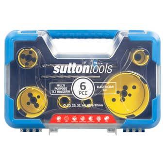 Sutton Tools Multi-Purpose TCT Hole Saw Electrician Set - 6 Piece