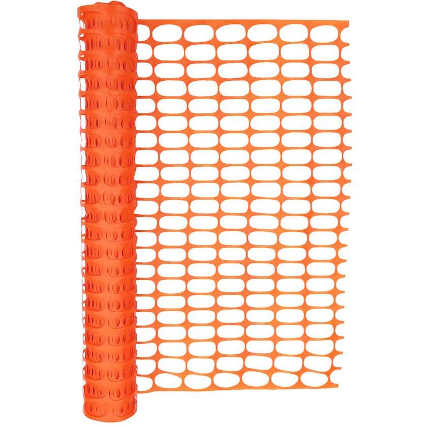 Hurricane Safety Barrier Mesh Orange 50m