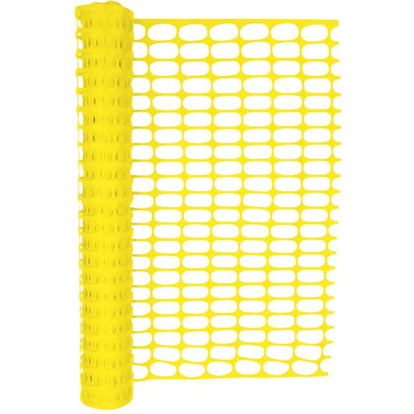 Hurricane Safety Barrier Mesh Yellow 50m