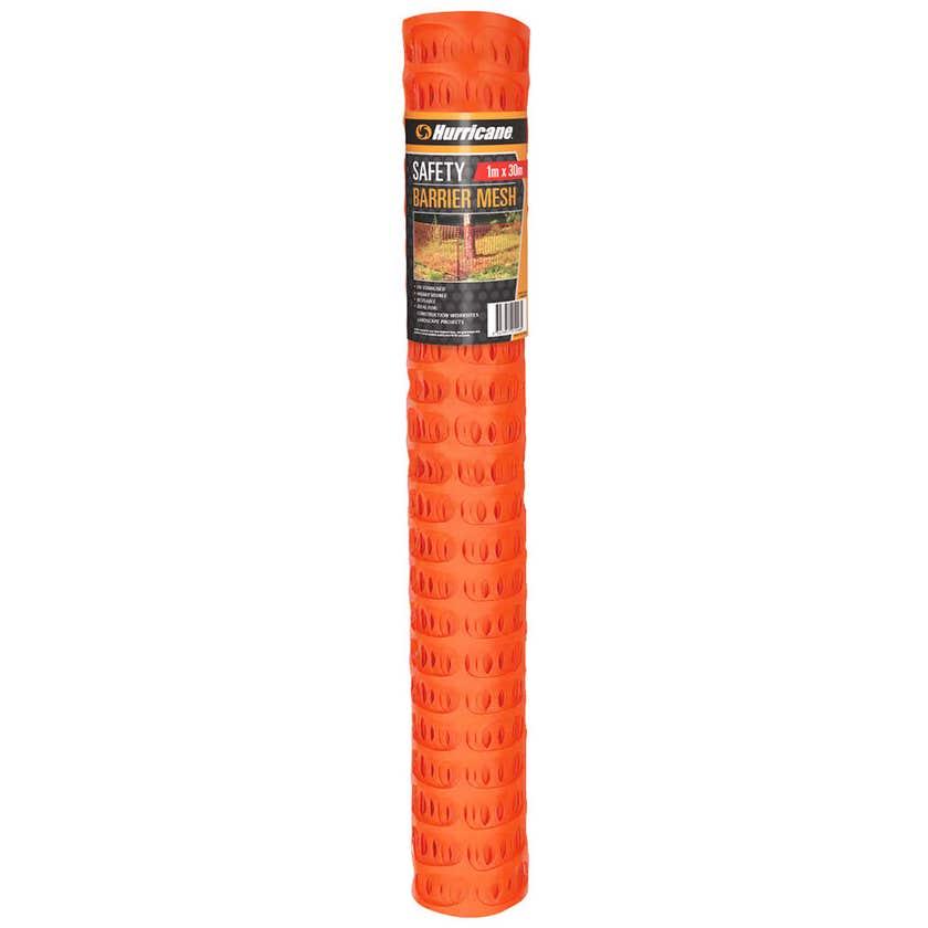 Hurricane Safety Barrier Mesh Orange 30m