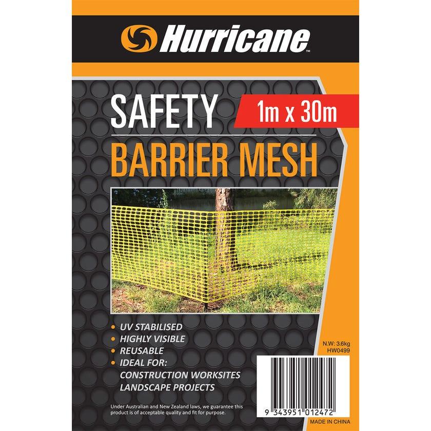 Hurricane™ Safety Barrier Mesh Yellow 1 x 30m