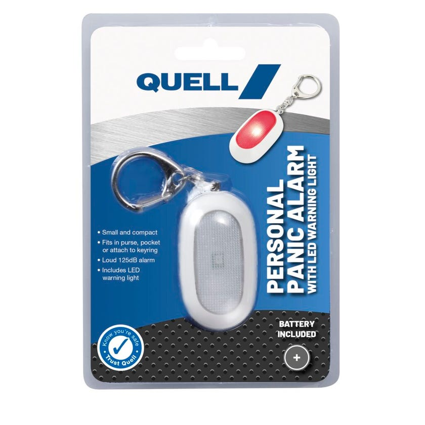 Quell Personal Alarm Keychain with LED Warning Light