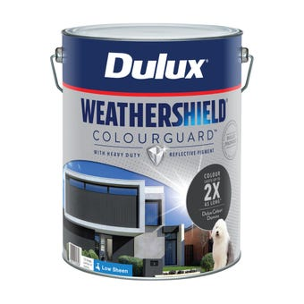 Dulux Weathershield ColourGuard Exterior Low Sheen Domino 10L