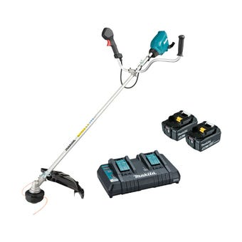 Makita 36V (18V x 2) Brushless U-Handle Line Trimmer Kit DUR369APT2
