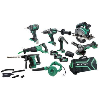 HiKOKI 18V Brushless Combo Kit - 8 Piece KC18D8P(HRZ)