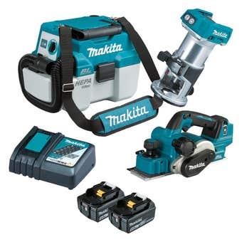 Makita 18V 5.0Ah Brushless Combo Kit - 3 Piece DLX3135TX2