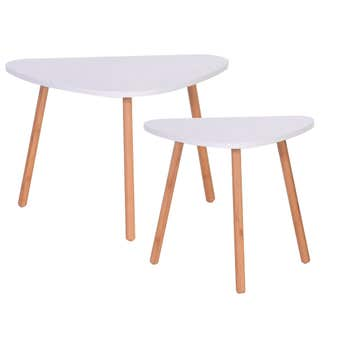 Bamboo & MDF Nesting Coffee Table Set of 2