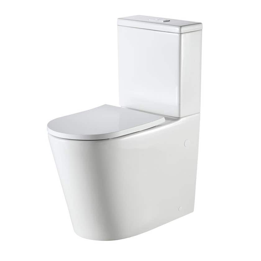 Oliveri Vienna Back to Wall Toilet Suite Comfort Height White