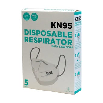 Disposable Respirator Masks KN95 - 5 Pack