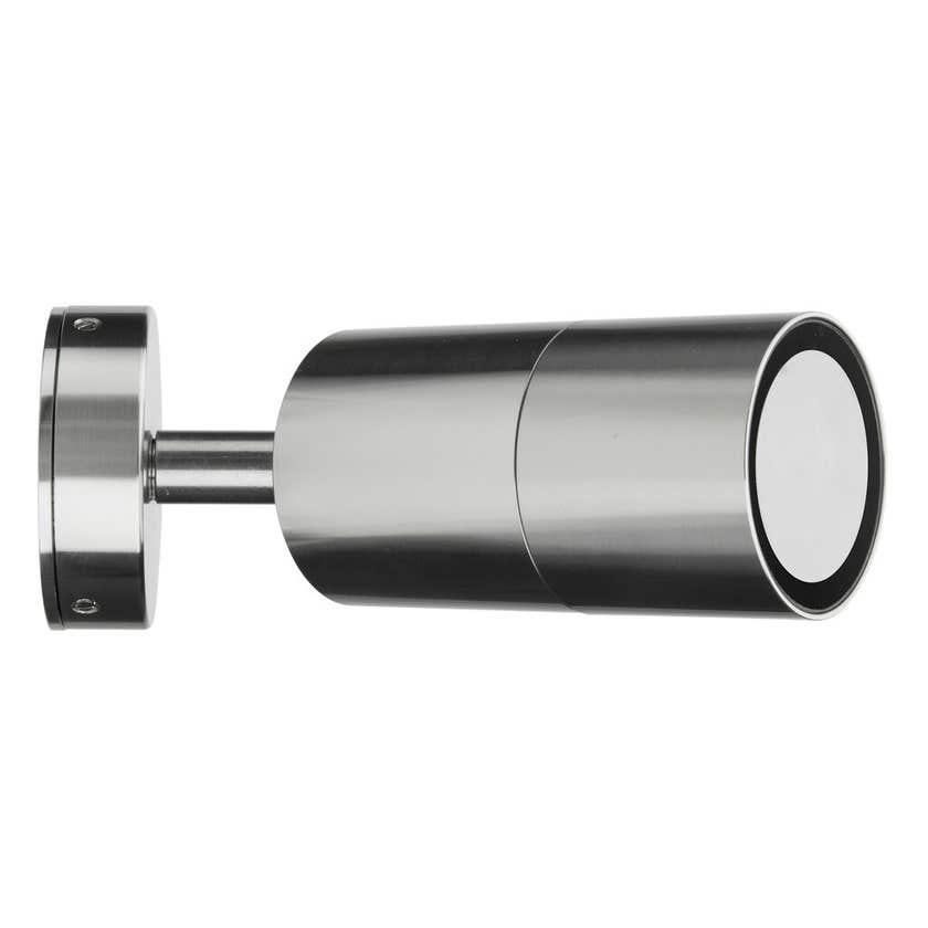 Brilliant Seaford Adjustable Exterior Wall Light Brushed Chrome