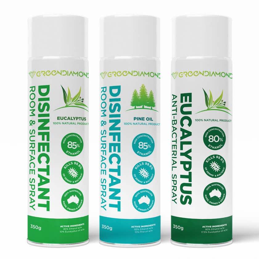 Greendiamond Disinfectant Room and Surface Spray 350g Eucalyptus