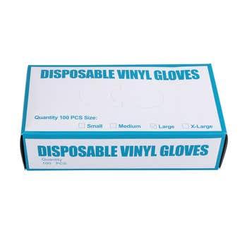 Swisscare Disposable Gloves Vinyl Large -100 Pack