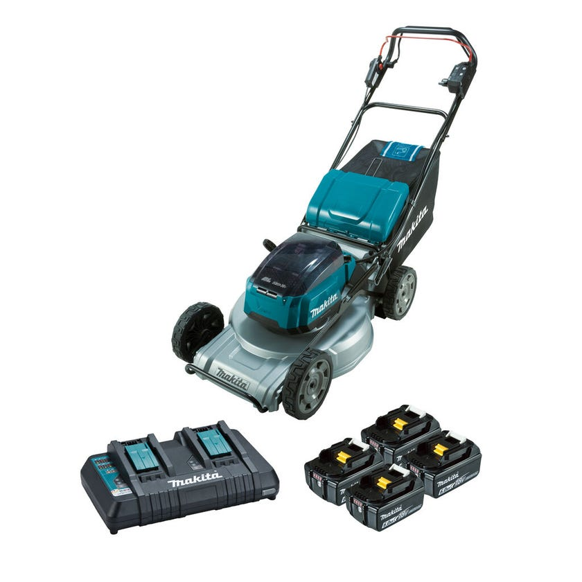 Makita 36V (18V x 2) Brushless Self-Propelled Lawn Mower 534mm Kit DLM533PG4X