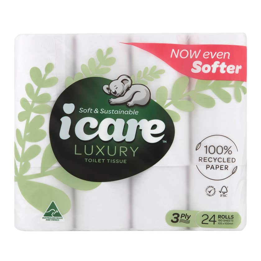 icare Toilet Tissue 3 Ply 24 pack