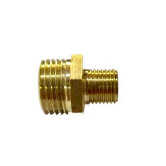 """EMAX Reducer Air Fitting Brass Male x Male 1/4"""" x 1/2"""""""