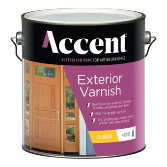 Accent Exterior Varnish Oil Based Satin Clear 4L