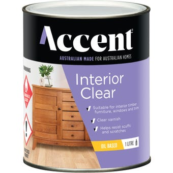 Accent Interior Clear Oil Based Satin 1L