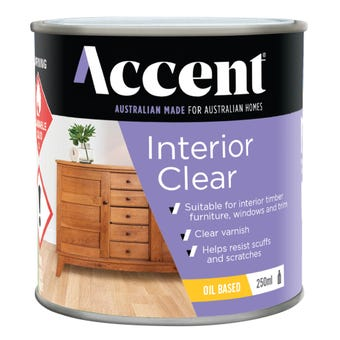 Accent Interior Clear Oil Based Satin 250ml