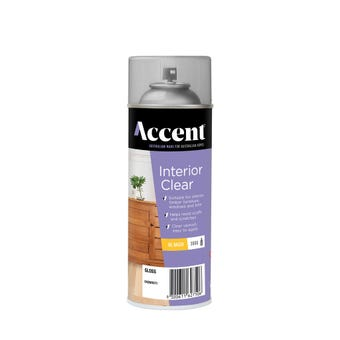 Accent Interior Clear Gloss Spray 300g