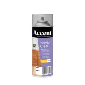 Accent Interior Clear Spray Oil Based Satin 300g