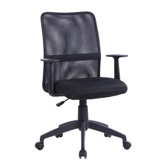 Office Chair with Mesh Back Black