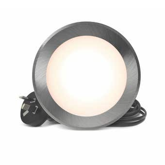HPM LED Flat Face Downlight 7W Brushed Chrome