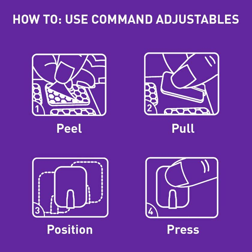 Command™ Adjustables™ Adhesive Small Repositionable Wall Hooks Clear - 14 Pack